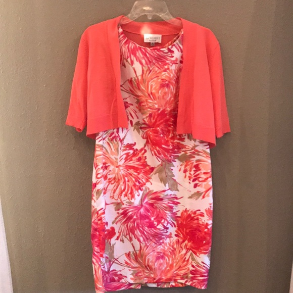 Studio I Dresses & Skirts - Studio I Petite Orange & Pink Floral Dress